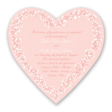 Hearts in Harmony - Coral Reef - Invitation