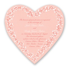 Hearts in Harmony - Guava - Invitation