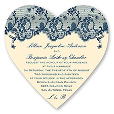 Charming Lace - Marine - Invitation