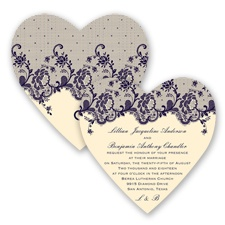 Charming Lace - Lapis - Invitation