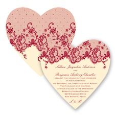 Charming Lace - Apple - Invitation