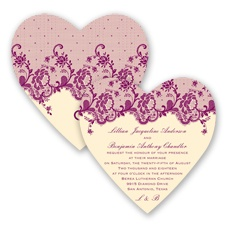 Charming Lace - Sangria - Invitation