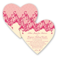 Charming Lace - Watermelon - Invitation