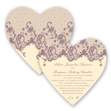 Charming Lace - Wisteria - Invitation