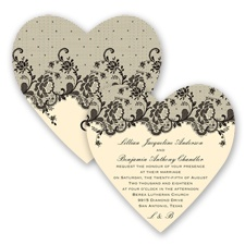 Charming Lace - Black - Invitation