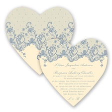 Charming Lace - Bluebird - Invitation