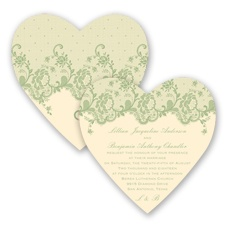 Charming Lace - Meadow - Invitation