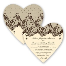 Charming Lace - Chocolate - Invitation