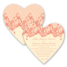 Charming Lace - Coral Reef - Invitation