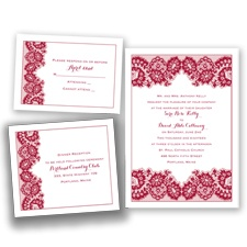 Lovely in Lace - Watermelon - Invitation Bundles