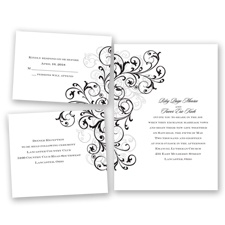 Regal Swirls - Black - Invitation Bundles