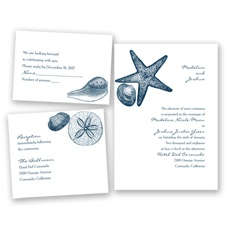 Seashore Treasures - Peacock - Invitation Bundles