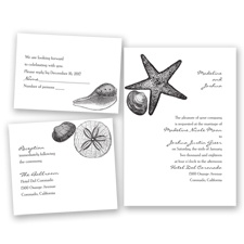 Seashore Treasures - Black - Invitation Bundles