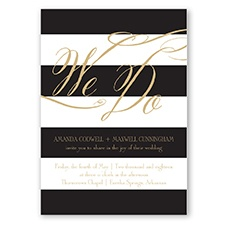 Wedding Bands - Golden - Invitation
