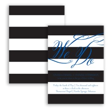 Wedding Bands - Horizon - Invitation