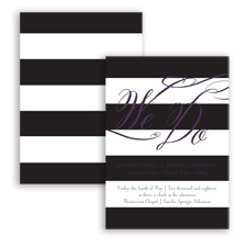 Wedding Bands - Plum - Invitation