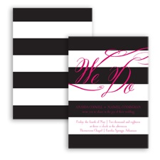Wedding Bands - Watermelon - Invitation