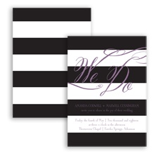 Wedding Bands - Wisteria - Invitation
