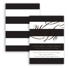 Wedding Bands - Chocolate - Invitation