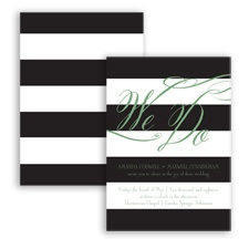 Wedding Bands - Clover - Invitation
