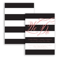 Wedding Bands - Coral Reef - Invitation