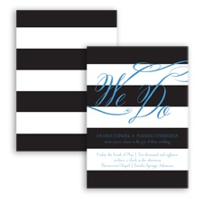 Wedding Bands - Cornflower - Invitation