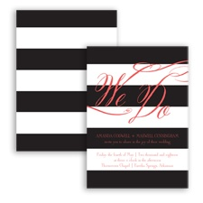 Wedding Bands - Guava - Invitation
