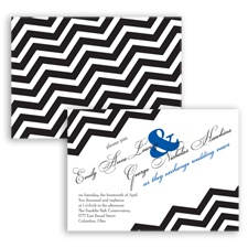 Chevron Typography - Horizon - Invitation