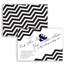 Chevron Typography - Lapis - Invitation