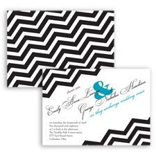 Chevron Typography - Malibu - Invitation