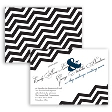 Chevron Typography - Peacock - Invitation