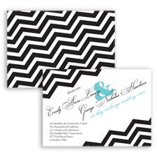 Chevron Typography - Pool - Invitation