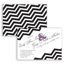 Chevron Typography - Wisteria - Invitation