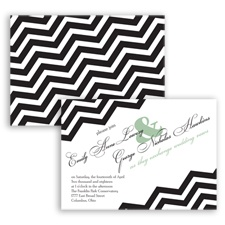 Chevron Typography - Meadow - Invitation