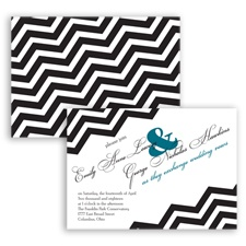 Chevron Typography - Oasis - Invitation