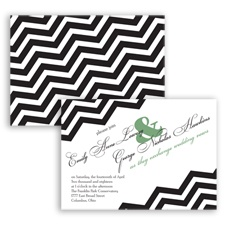 Chevron Typography - Clover - Invitation