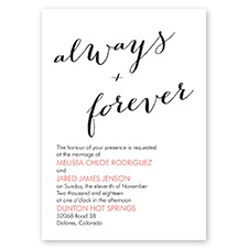 Polka Dots Forever - Black - Invitation