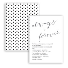 Polka Dots Forever - Mercury - Invitation