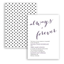 Polka Dots Forever - Plum - Invitation