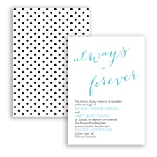 Polka Dots Forever - Pool - Invitation