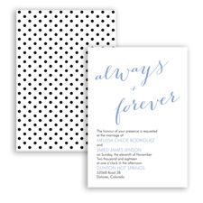 Polka Dots Forever - Bluebird - Invitation