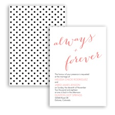 Polka Dots Forever - Coral Reef - Invitation
