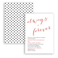 Polka Dots Forever - Guava - Invitation
