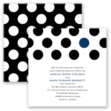 Spot On Love - Marine - Invitation