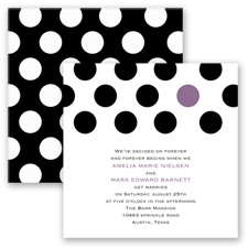 Spot On Love - Wisteria - Invitation