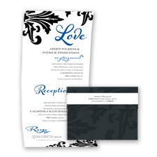 Bold Damask - Horizon - Seal and Send Invitation