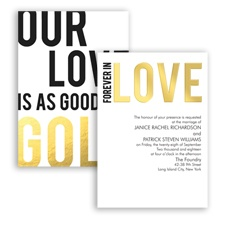 Forever in Love Foil - Invitation