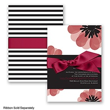 Mod Blooms - Apple - Invitation