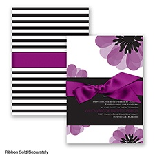 Mod Blooms - Sangria - Invitation