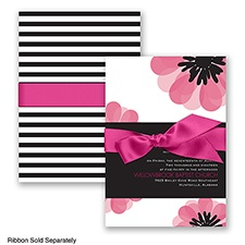 Mod Blooms - Watermelon - Invitation